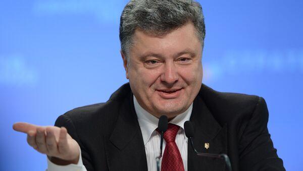 Президент Украины Петр Порошенко - Sputnik Беларусь