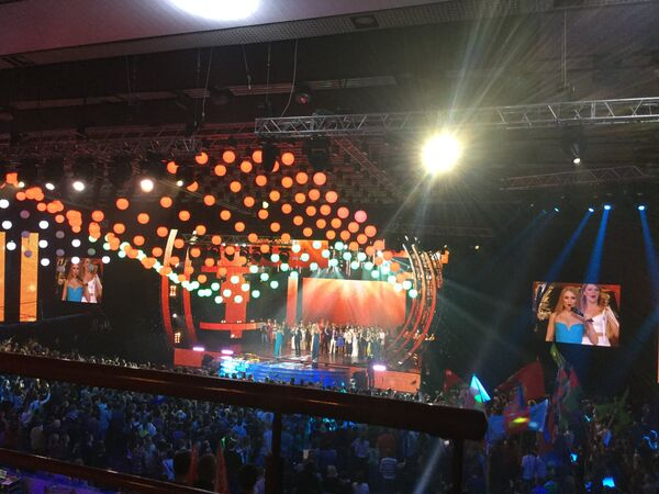 Концерт Мы вместе! в минском Дворце спорта - Sputnik Беларусь