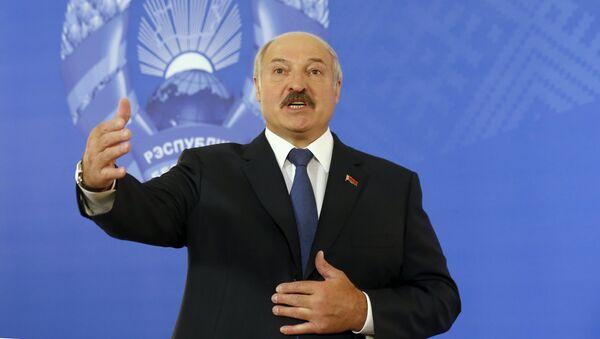 Александр Лукашенко на участке № 1 в Минске - Sputnik Беларусь