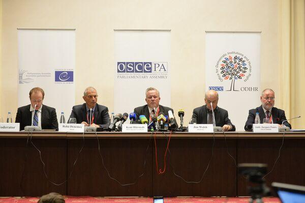 Наблюдатели ПАСЕ и ОБСЕ в Минске - Sputnik Беларусь