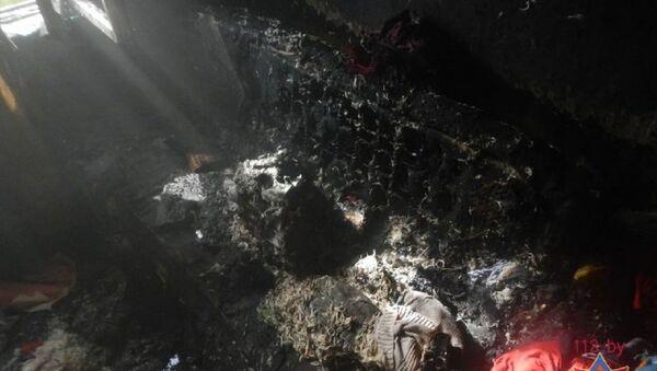 Последствия пожара в квартире жилого дома в Речице - Sputnik Беларусь