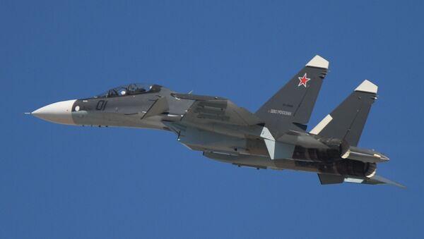 Самолет Су-30СМ на авиационном шоу - Sputnik Беларусь