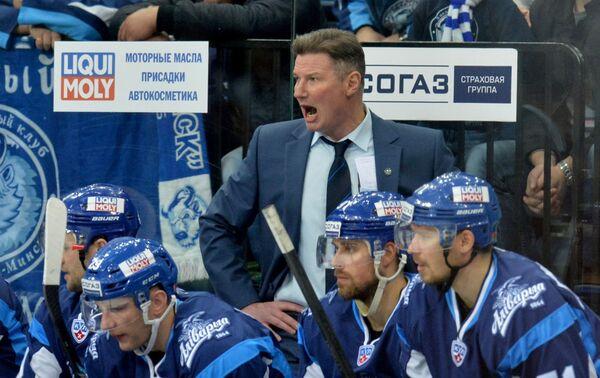 Исполняющий обязанности главного тренера ХК Динамо-Минск Андрей Ковалев - Sputnik Беларусь