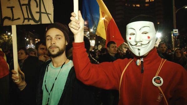 СПУТНИК_Жители Бухареста вышли на акцию протеста из-за пожара в клубе - Sputnik Беларусь