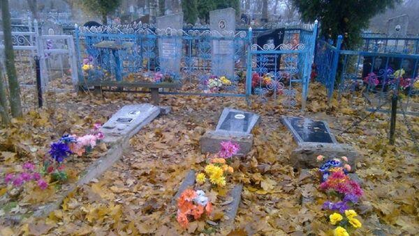 Разбураныя надмагіллі на полацкіх могілках - Sputnik Беларусь