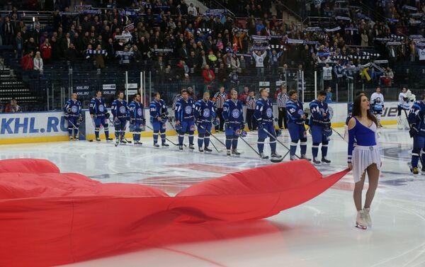 ХК Динамо-Минск перед матчем на Минск-Арене - Sputnik Беларусь