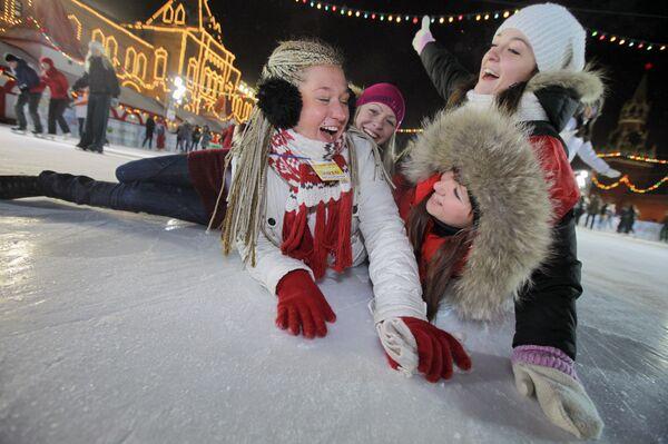 Празднование Дня студента на катке - Sputnik Беларусь