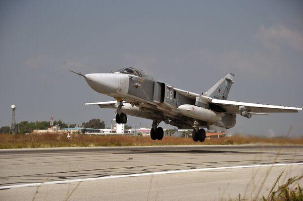 Российский фронтовой бомбардировщик Су-24 - Sputnik Беларусь