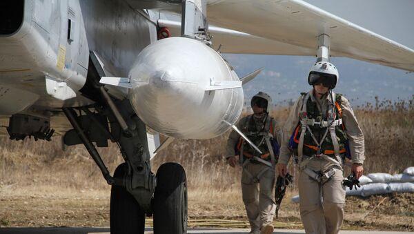 Российская боевая авиагруппа на аэродроме Хмеймим в Сирии - Sputnik Беларусь