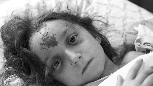 Одна из пострадавших во время землетрясения 7 декабря 1988 года в Армении Лусина Карапетян - Sputnik Беларусь