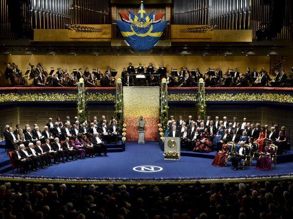 Нобелевские лауреаты в ожидании вручения премии - Sputnik Беларусь