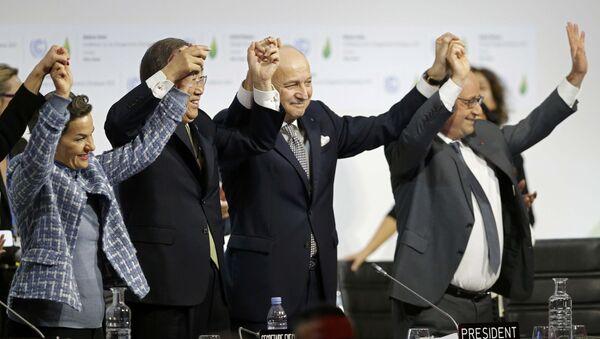 Подписание рамочного соглашения по климату в Париже - Sputnik Беларусь