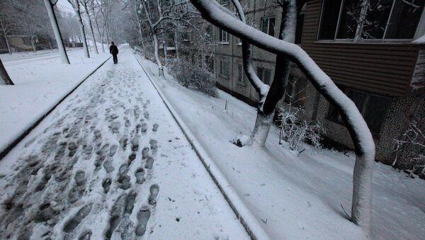 Снег на городских улицах - Sputnik Беларусь
