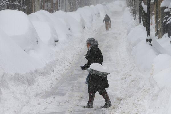 Снегопад в Бостоне - Sputnik Беларусь