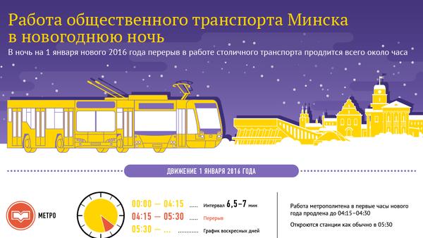 Работа общественного транспорта Минска в новогоднюю ночь - Sputnik Беларусь