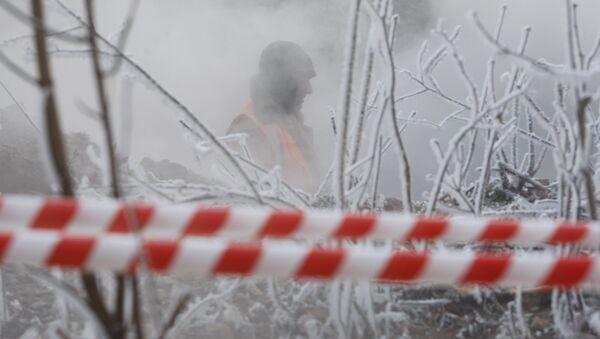 Прарыў трубы гарачага водазапеспячэння, архіўнае фота - Sputnik Беларусь