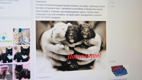 Аб'ява карыстальніка Facebook - Sputnik Беларусь