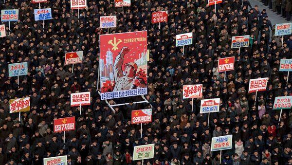 Демонстрация в КНДР - Sputnik Беларусь