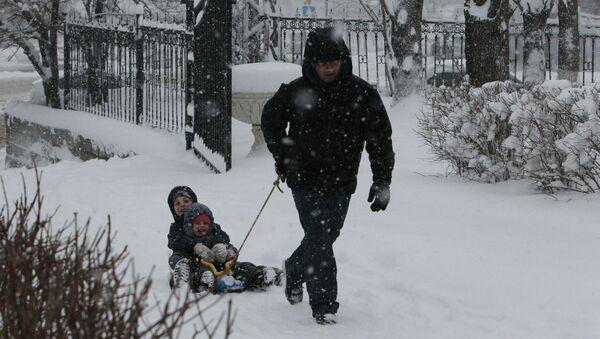 Снегапад, архіўнае фота - Sputnik Беларусь