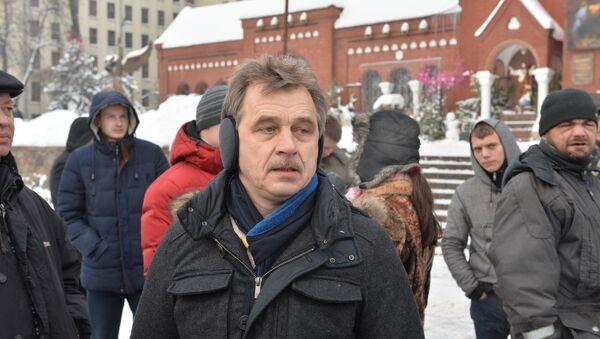 Анатолий Лебедько на акции солидарности с ИП - Sputnik Беларусь