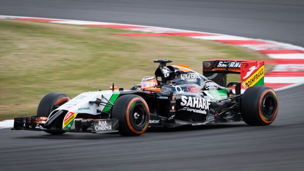 Болид команды Force India на одном из Гран-при Формулы-1 - Sputnik Беларусь