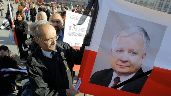 Траурные мероприятия в связи с гибелью президента Польши Леха качиньского. Архивное фото - Sputnik Беларусь