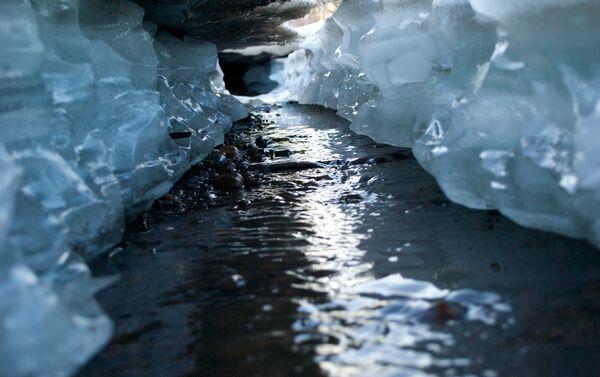 Рака пад лёдам, архіўнае фота - Sputnik Беларусь