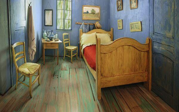 Комната, якую зрабілі паводле карціны Ван Гога ў раёне Рывер Норт Чыкага - Sputnik Беларусь