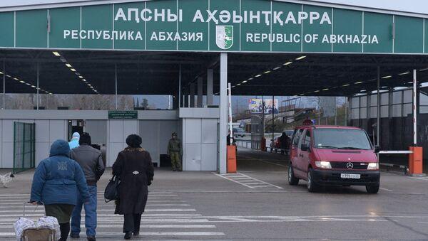 КПП на абхазской границе - Sputnik Беларусь