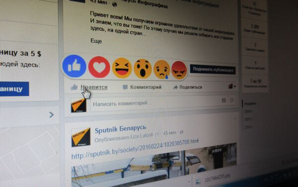 Смайлики в Facebook - Sputnik Беларусь