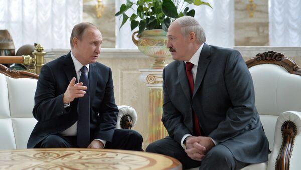 Уладзімір Пуцін і Аляксандр Лукашэнка - Sputnik Беларусь