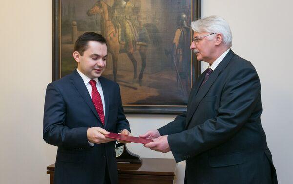 Кондрад Паўлік (злева) прызначаны амбасадарам Польшчы ў Беларусі - Sputnik Беларусь
