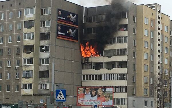Пожар в Минске - Sputnik Беларусь