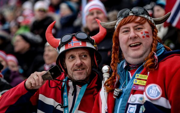 Болельщики на Чемпионате мира по биатлону в Норвегии - Sputnik Беларусь