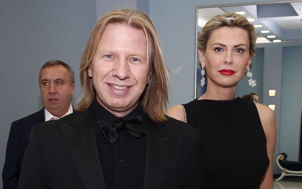 Прадзюсар Віктар Дробыш з жонкай Таццянай - Sputnik Беларусь