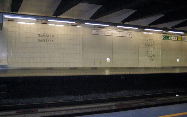 Станцыя метро Малбек у Брусэлі - Sputnik Беларусь