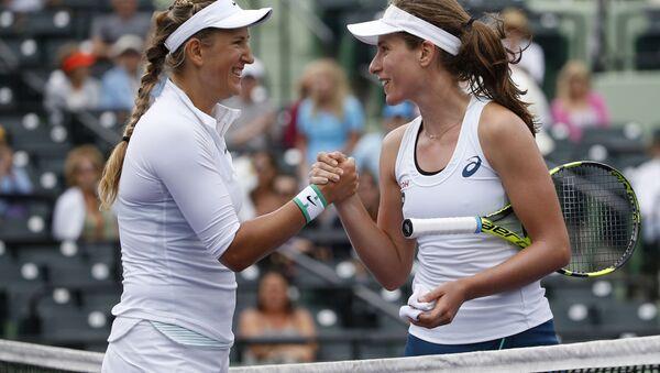 Виктория Азаренко и Йоханна Конта на турнире в Майами - Sputnik Беларусь