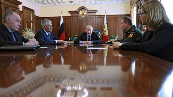 Президент РФ В. Путин провел совещание в Кремле - Sputnik Беларусь