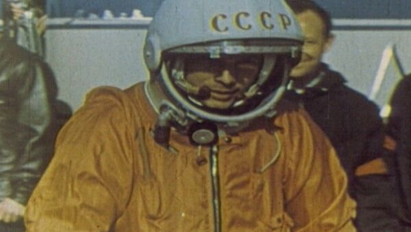 Спутник_Юрий Гагарин – человек, первым побывавший в космосе. Кадры из архива - Sputnik Беларусь