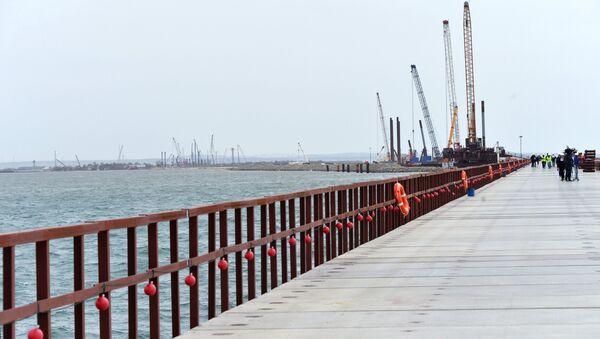 Строительство Керченского моста в Крыму - Sputnik Беларусь