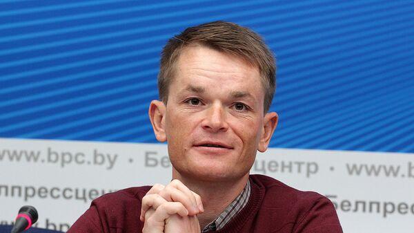 Чэмпіён свету па веласпорту ў гонцы з радзельным спортам, чэмпіён першых Еўрапейскіх гульняў Васіль Кірыенка - Sputnik Беларусь