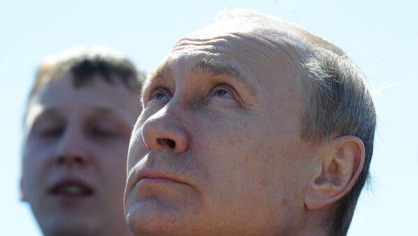 Президент РФ В. Путин на космодроме Восточный - Sputnik Беларусь