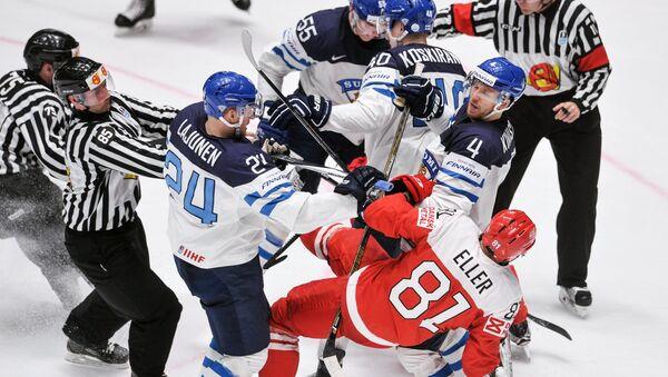 Хоккей. Чемпионат мира. Матч Финляндия - Дания - Sputnik Беларусь