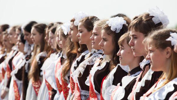 Последний звонок в Жодинской женской гимназии - Sputnik Беларусь