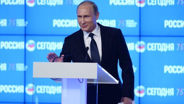 Президент РФ В. Путин посетил МИА Россия сегодня - Sputnik Беларусь