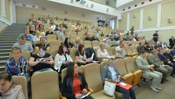 Чэрвеньскі форум ІП адбыўся ў напаўпустой залі - Sputnik Беларусь