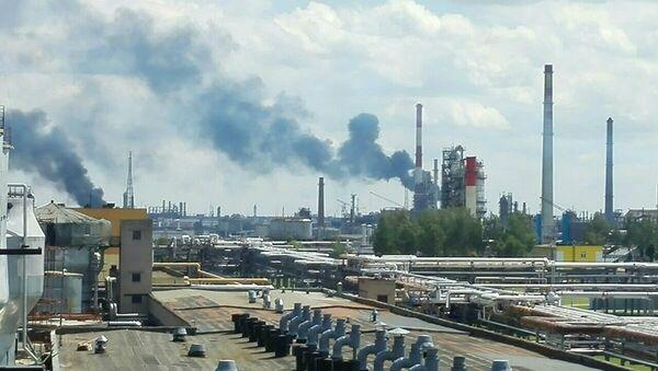 Пожар на предприятии Полимир в Новополоцке - Sputnik Беларусь