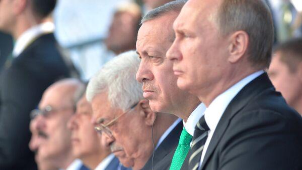 Президент России Владимир Путин и президент Турции Реджеп Тайип Эрдоган - Sputnik Беларусь