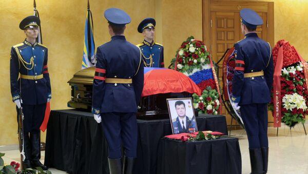 Похороны погибшего в Сирии летчика О.Пешкова в Липецке - Sputnik Беларусь
