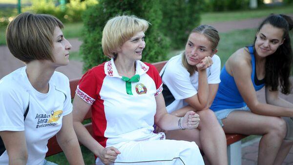 Олимпийская чемпионка Марина Лобач делится опытом с молодежью - Sputnik Беларусь